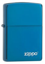 20446ZL, High Polish Blue Lighter with Laser Engraved Zippo logo, Classic Case