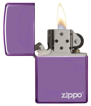 28124- Abyss Windproof Zippo Lighter with a laser engrave Zippo logo