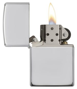 Armor® High Polish Sterling Silver Windproof Lighter standing