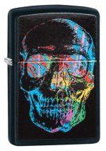 28042, Colorful Skull, Color Image, Black Matte, Classic Case