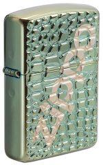29525-000003-Alligator Chameleon Windproof Lighter -Deep Carved Armor Case