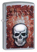 Rusted Skull Design Lighter