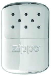 Front of 12-Hour High Polish Chrome Refillable Hand Warmer