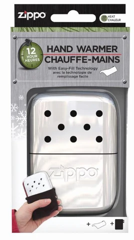 Packaging of 12-Hour High Polish Chrome Refillable Hand Warmer